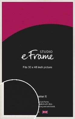 Chamfered Natural Cotton Cream Picture Frame, 30x48