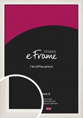 Chamfered Natural Cotton Cream Picture Frame, A3Plus (VRMP-927-329x483mm)