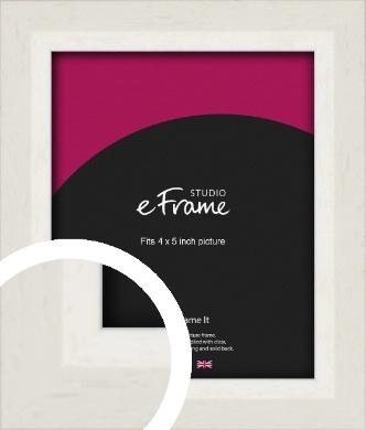 Chamfered Natural Cotton Cream Picture Frame, 4x5