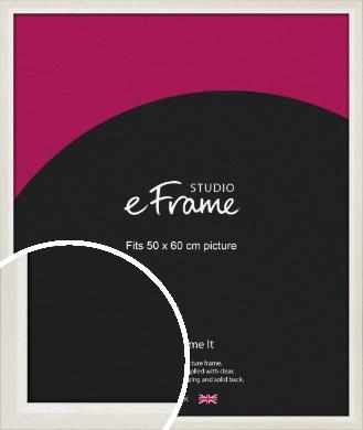 Chamfered Natural Cotton Cream Picture Frame, 50x60cm (VRMP-927-50x60cm)