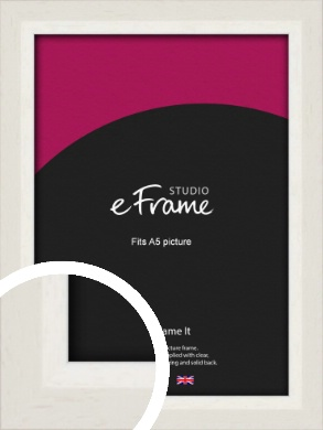 Chamfered Natural Cotton Cream Picture Frame, A5 (148x210mm) (VRMP-927-A5)