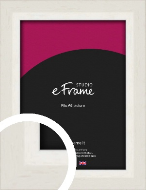 Chamfered Natural Cotton Cream Picture Frame, A6 (105x148mm) (VRMP-927-A6)