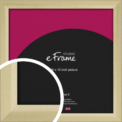 Cottage Style Natural Wood Picture Frame, 10x10