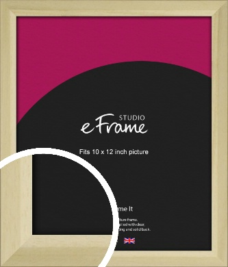 Cottage Style Natural Wood Picture Frame, 10x12