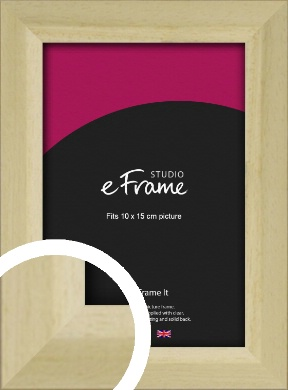 Cottage Style Natural Wood Picture Frame, 10x15cm (4x6