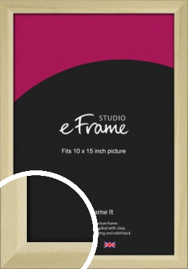 Cottage Style Natural Wood Picture Frame, 10x15