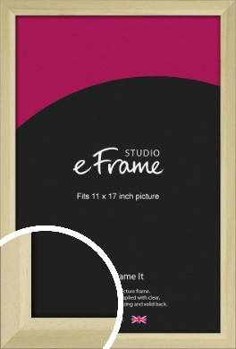 Cottage Style Natural Wood Picture Frame, 11x17