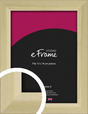 Cottage Style Natural Wood Picture Frame, 13x18cm (5x7