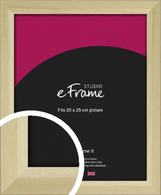 Cottage Style Natural Wood Picture Frame, 20x25cm (8x10