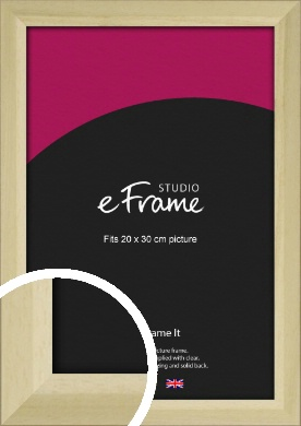 Cottage Style Natural Wood Picture Frame, 20x30cm (8x12