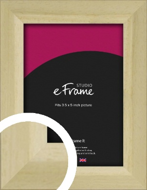 Cottage Style Natural Wood Picture Frame, 3.5x5