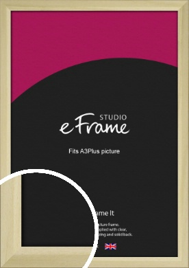 Cottage Style Natural Wood Picture Frame, A3Plus (VRMP-929-329x483mm)