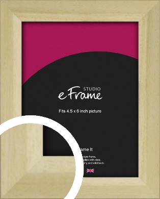 Cottage Style Natural Wood Picture Frame, 4.5x6