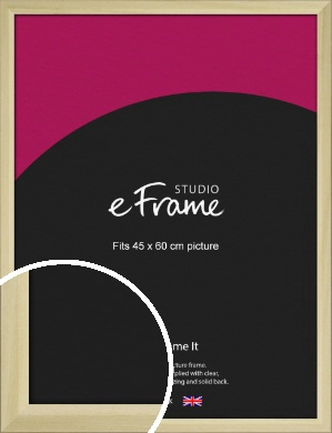 Cottage Style Natural Wood Picture Frame, 45x60cm (VRMP-929-45x60cm)