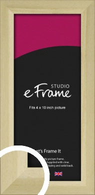 Cottage Style Natural Wood Picture Frame, 4x10