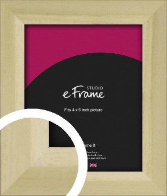 Cottage Style Natural Wood Picture Frame, 4x5