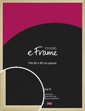 Cottage Style Natural Wood Picture Frame, 60x80cm (VRMP-929-60x80cm)
