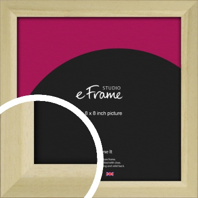Cottage Style Natural Wood Picture Frame, 8x8