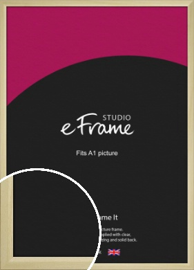 Cottage Style Natural Wood Picture Frame, A1 (594x841mm) (VRMP-929-A1)