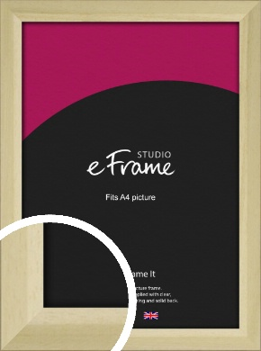 Cottage Style Natural Wood Picture Frame, A4 (210x297mm) (VRMP-929-A4)