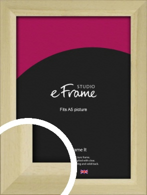 Cottage Style Natural Wood Picture Frame, A5 (148x210mm) (VRMP-929-A5)