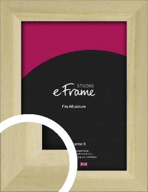 Cottage Style Natural Wood Picture Frame, A6 (105x148mm) (VRMP-929-A6)