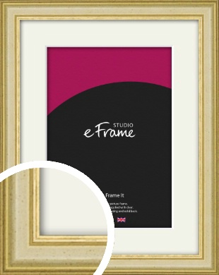 Rustic Style Gold Picture Frame & Mount (VRMP-932-M)