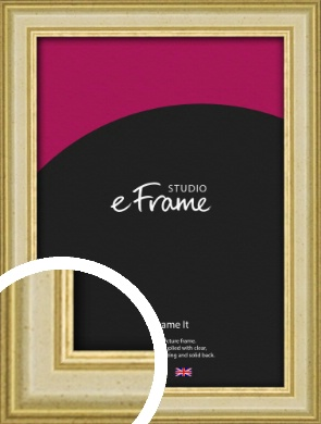 Rustic Style Gold Picture Frame (VRMP-932)
