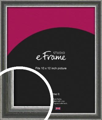 Quirky Multi Tone Silver Picture Frame, 10x12