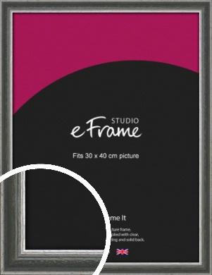 Quirky Multi Tone Silver Picture Frame, 30x40cm (VRMP-933-30x40cm)
