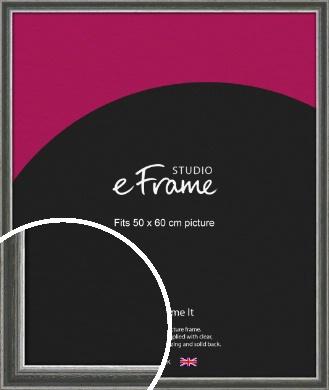 Quirky Multi Tone Silver Picture Frame, 50x60cm (VRMP-933-50x60cm)