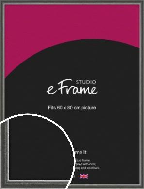 Quirky Multi Tone Silver Picture Frame, 60x80cm (VRMP-933-60x80cm)