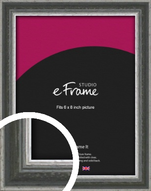Quirky Multi Tone Silver Picture Frame, 6x8