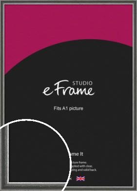 Quirky Multi Tone Silver Picture Frame, A1 (594x841mm) (VRMP-933-A1)
