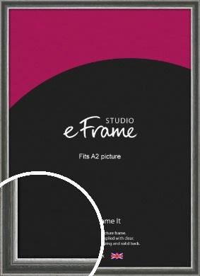 Quirky Multi Tone Silver Picture Frame, A2 (420x594mm) (VRMP-933-A2)