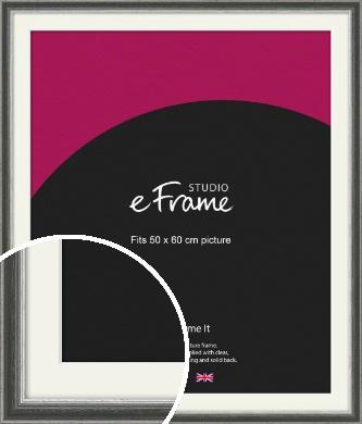 Quirky Multi Tone Silver Picture Frame & Mount, 50x60cm (VRMP-933-M-50x60cm)