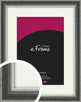 Quirky Multi Tone Silver Picture Frame & Mount (VRMP-933-M)