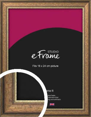 Weathered & Worn Brown Picture Frame, 18x24cm (VRMP-163-18x24cm)
