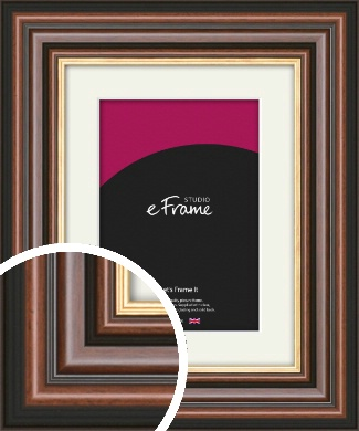 Grooved Brown Picture Frame & Mount (VRMP-935-M)
