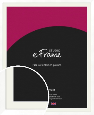 Classic Flat White Picture Frame & Mount, 24x30