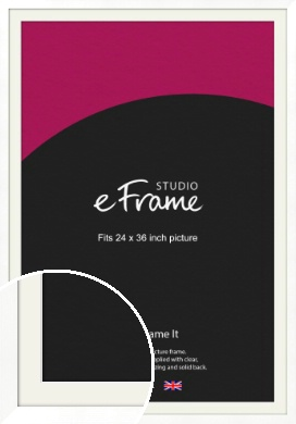 Classic Flat White Picture Frame & Mount, 24x36