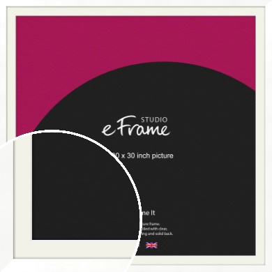 Classic Flat White Picture Frame & Mount, 30x30