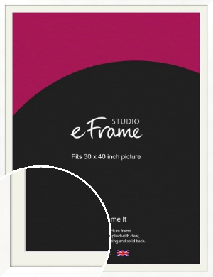 Classic Flat White Picture Frame & Mount, 30x40