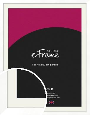 Classic Flat White Picture Frame & Mount, 45x60cm (VRMP-511-M-45x60cm)