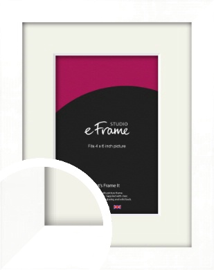 Classic Flat White Picture Frame & Mount, 4x6