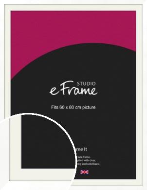 Classic Flat White Picture Frame & Mount, 60x80cm (VRMP-511-M-60x80cm)
