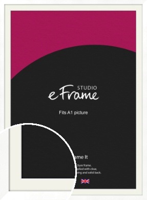 Classic Flat White Picture Frame & Mount, A1 (594x841mm) (VRMP-511-M-A1)