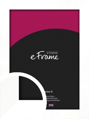 Classic Flat White Picture Frame (VRMP-511)