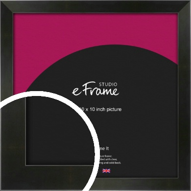 On Trend Linear Black Picture Frame, 10x10