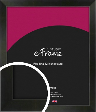 On Trend Linear Black Picture Frame, 10x12
